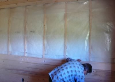 Insulating Log Cabin Interior