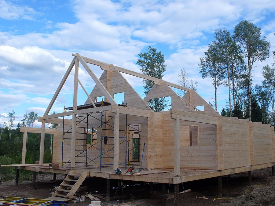 Build on site cabins