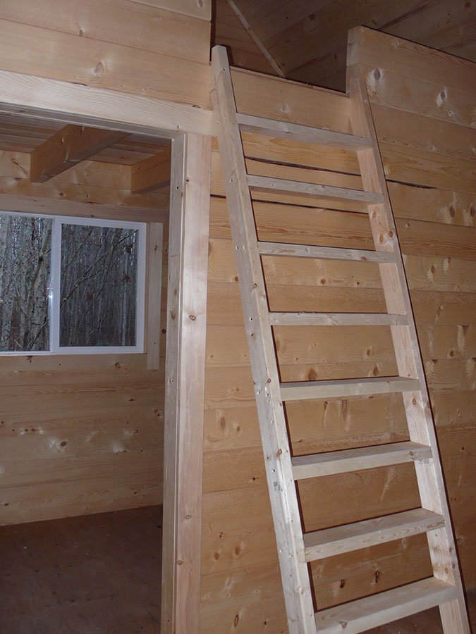 Log Cabin Inside Loft