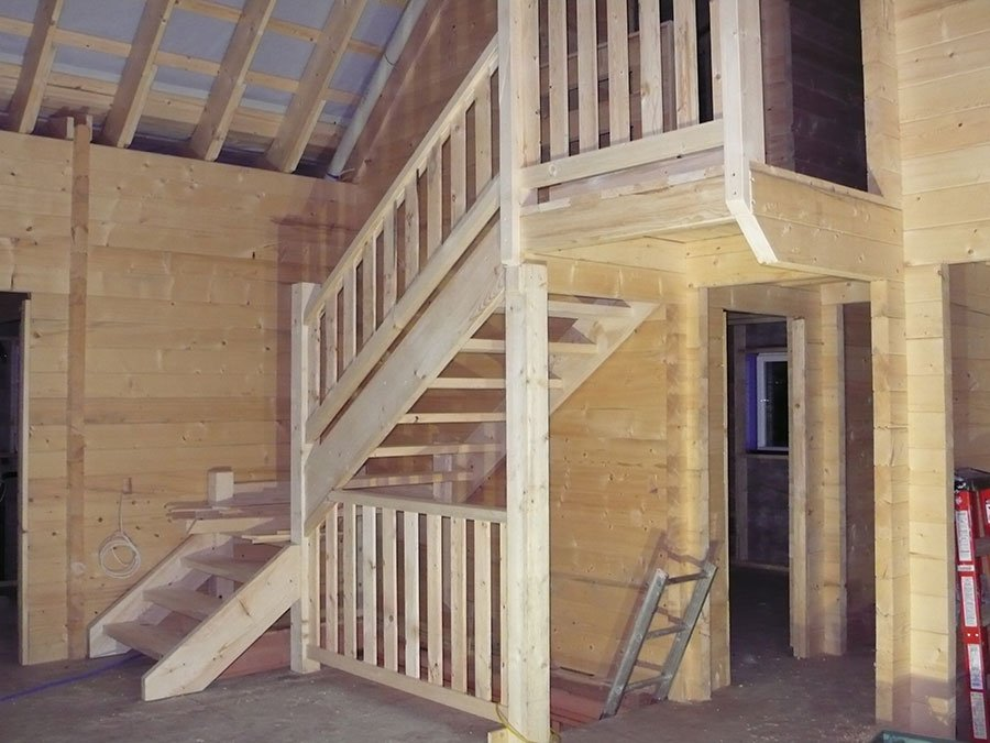 Staircase Inside Cabin