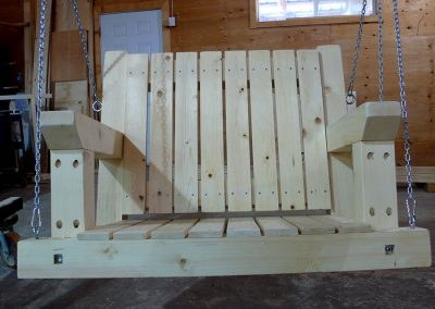 custom porch swing